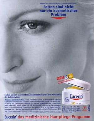 Print advertisement for Eucerin Q10 ACTIVE