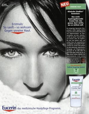 Print advertisement for Eucerin