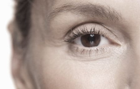 Woman´s eyes with wrinkles.